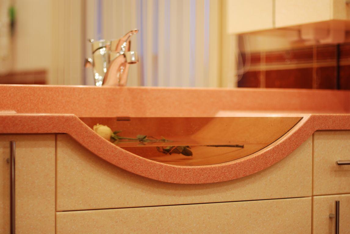 Столешница из композитного материала цена Стойки-ресепшен из искусственного камня Corian Волоколамская